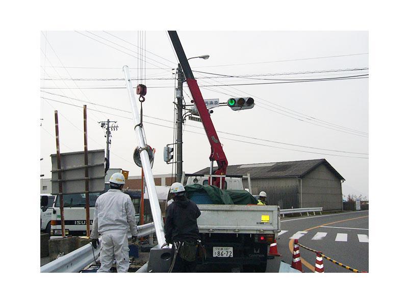 信号機移設工事